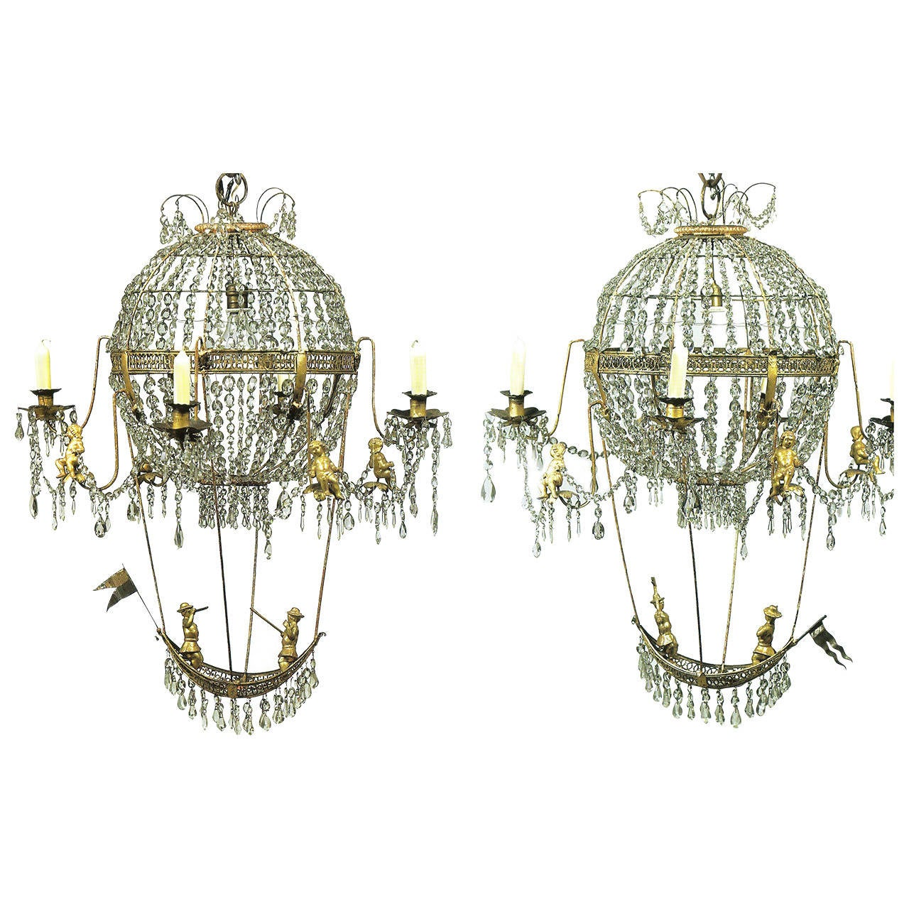 Montgolfier style french chandelier for sale at 1stdibs 18th century pair of montgolfier chandeliers aloadofball Choice Image