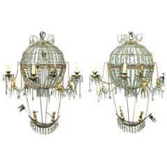 18th Century Pair of Montgolfier Chandeliers