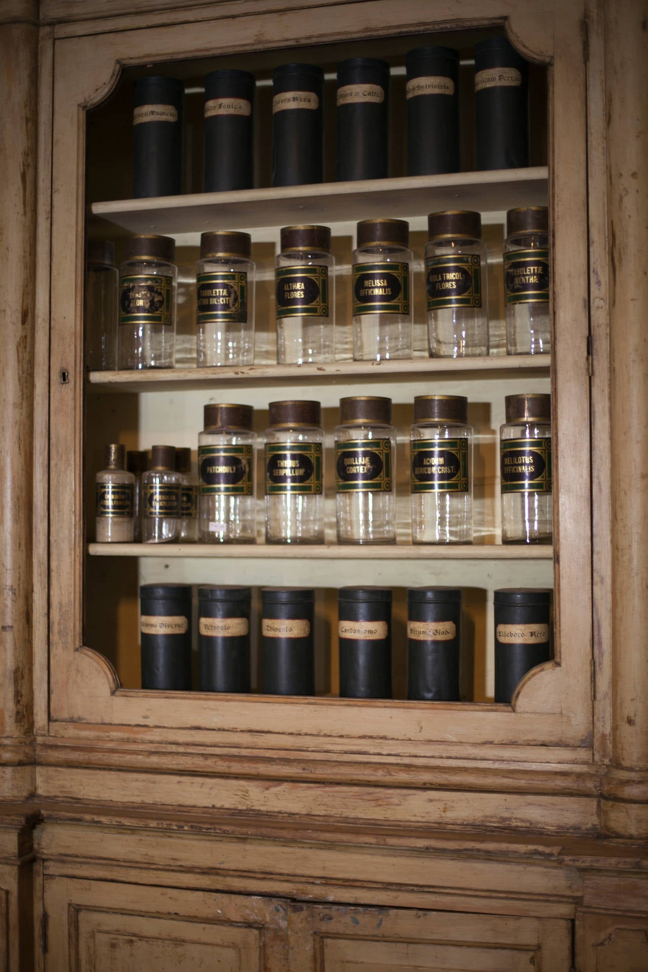 Antique Apothecary Cabinet in Original Lacquer at 1stdibs