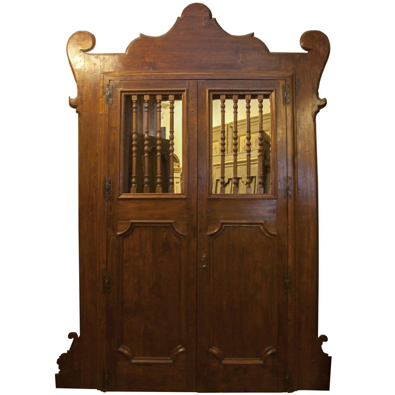 Antique Doorway with Original Frame