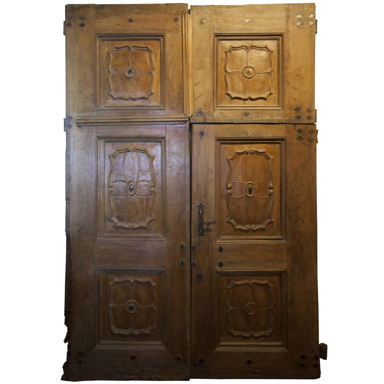 Antique Door Made of Walnut