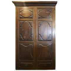 Antique Carved Closet Front made of Walnut