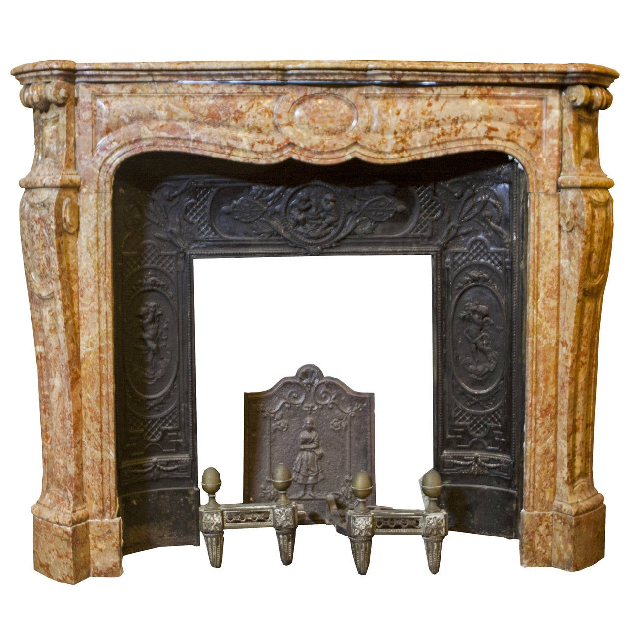 Antique rosso antico marble fireplace for sale at 1stdibs for Marble mantels for sale