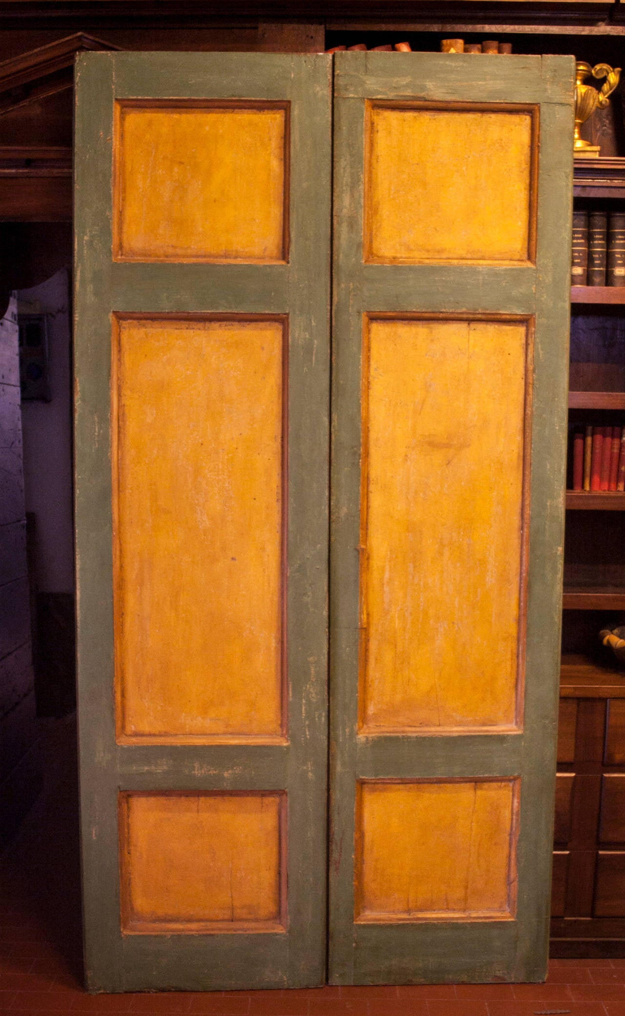 Antique Lacquered Double Door For Sale At 1stdibs