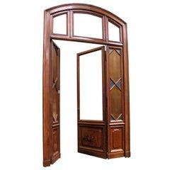 Antique Portal with Original Glass Window