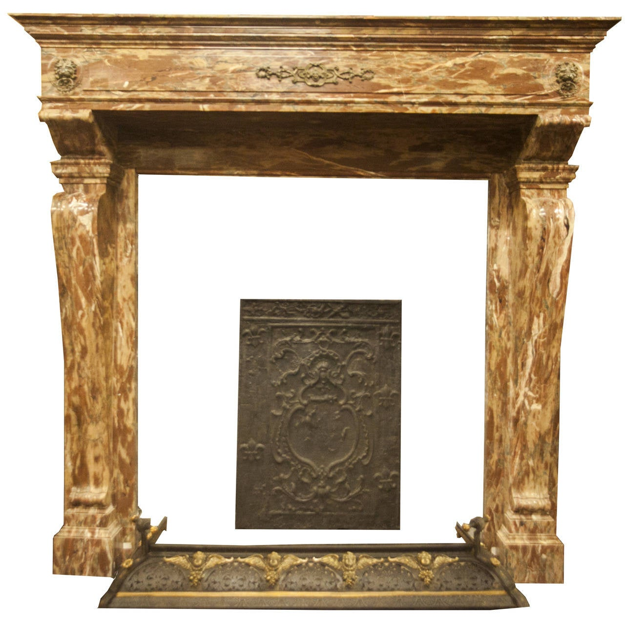 antique fireplace made of rosso levanto 39 s marble at 1stdibs. Black Bedroom Furniture Sets. Home Design Ideas