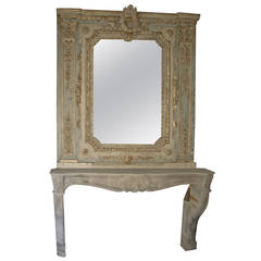Antique Fireplace and its Original Mirror