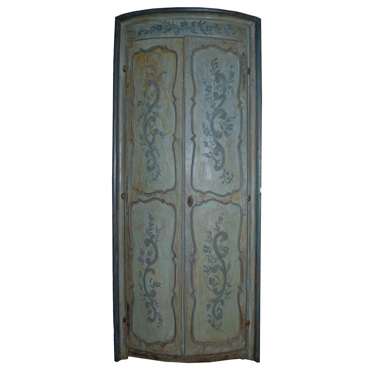 Antique Lacquered Door For A Wardrobe
