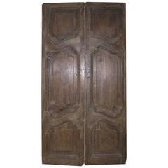 Antique Double Door Made of Chestnut