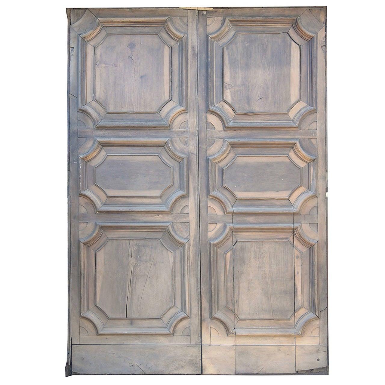 Antique Doorway with Original Door Inside Made of Walnut