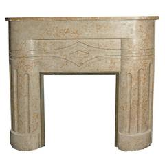 Antique Fireplace Decò Made of Marble