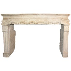 Antique Fireplace Made of Borgogna's Stone