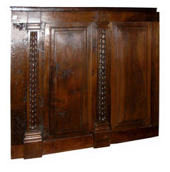 Antique Boiseries Made of Walnut, 11 Metres