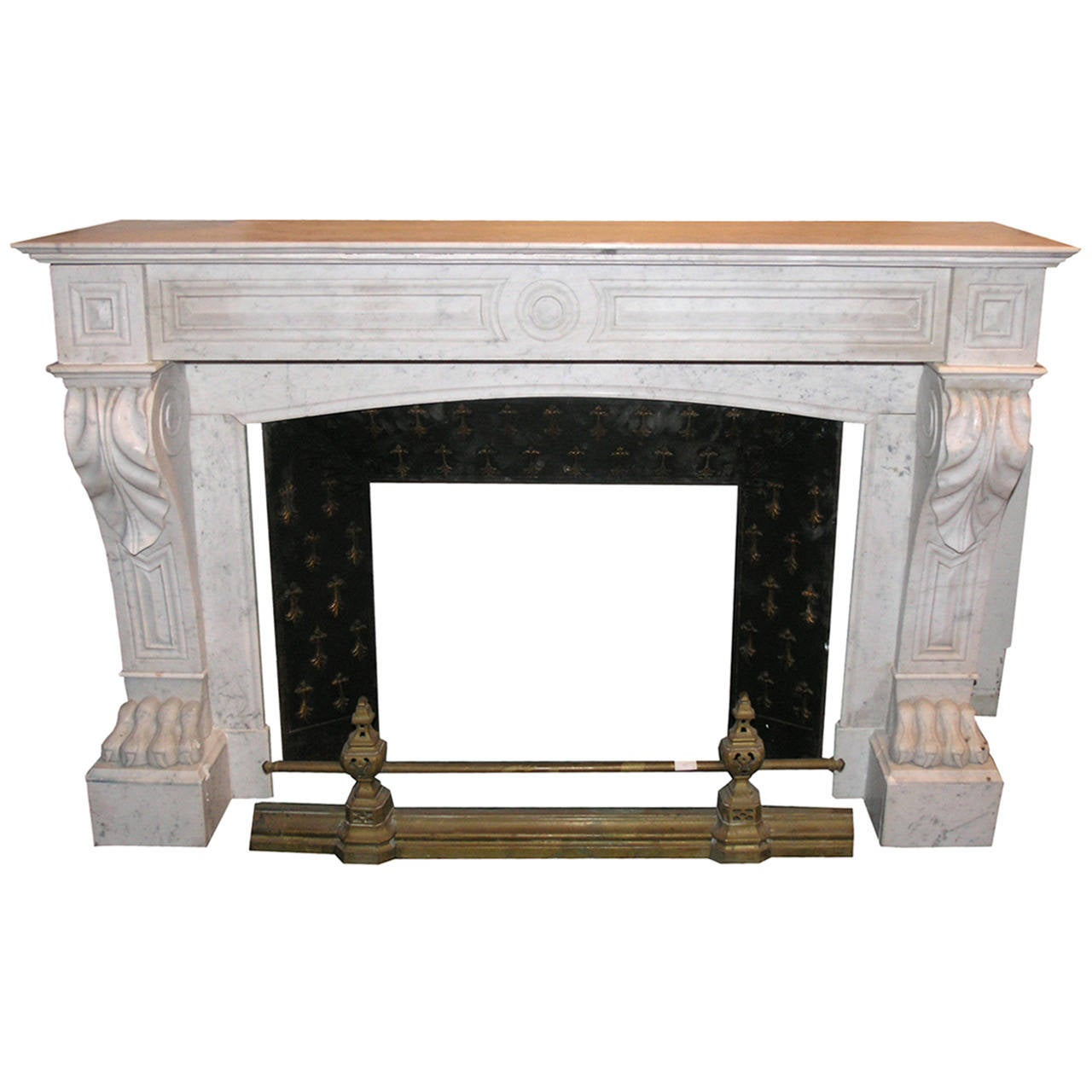18th century antique carrara marble mantel for sale at 1stdibs for Marble mantels for sale