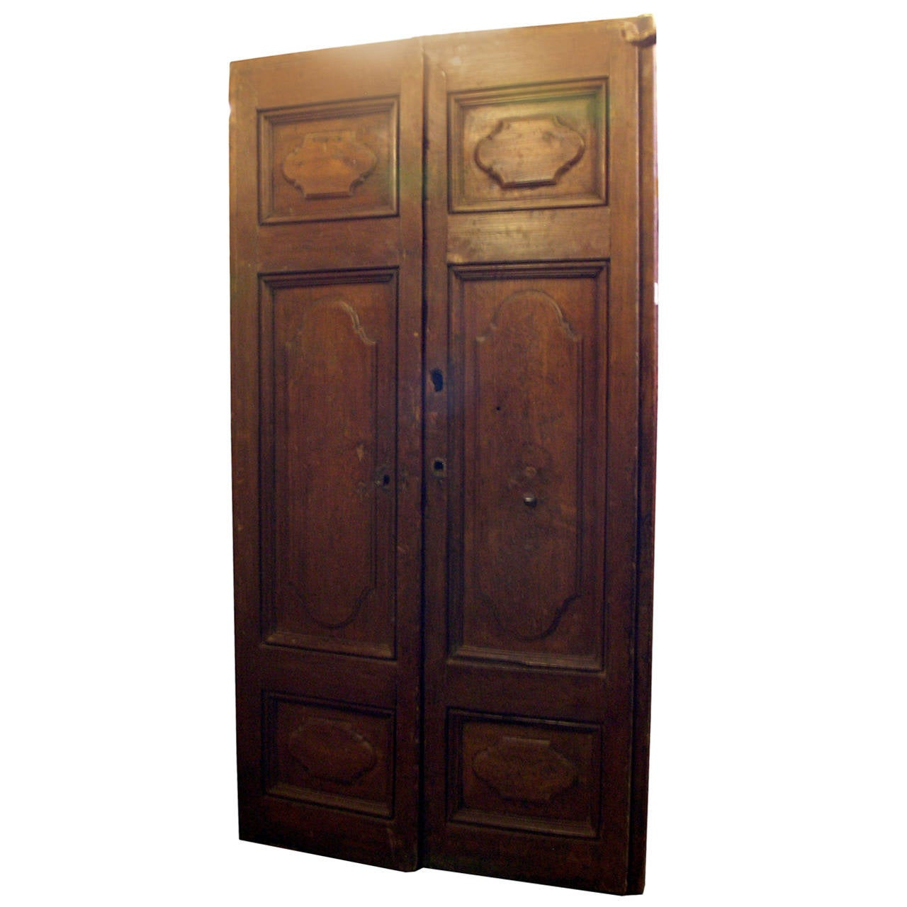 Antique chestnut double door for sale at 1stdibs for Double doors for sale