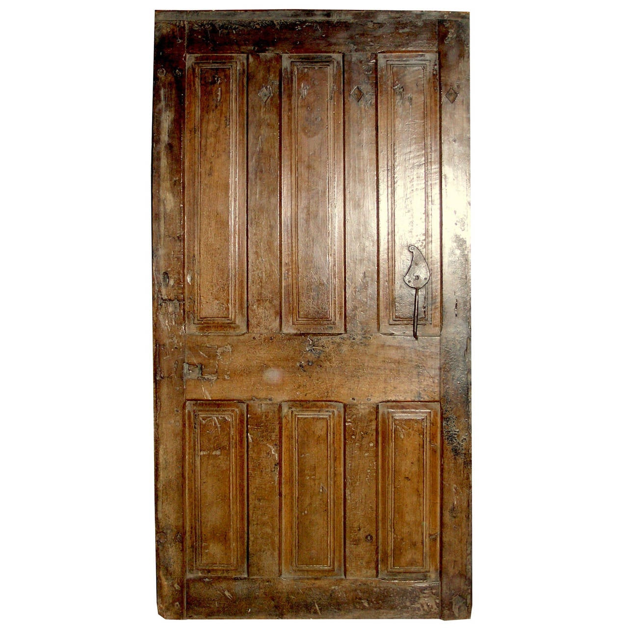 1280 #6F431A Antique Walnut Entry Door For Sale At 1stdibs save image Vintage Exterior Doors 41071280