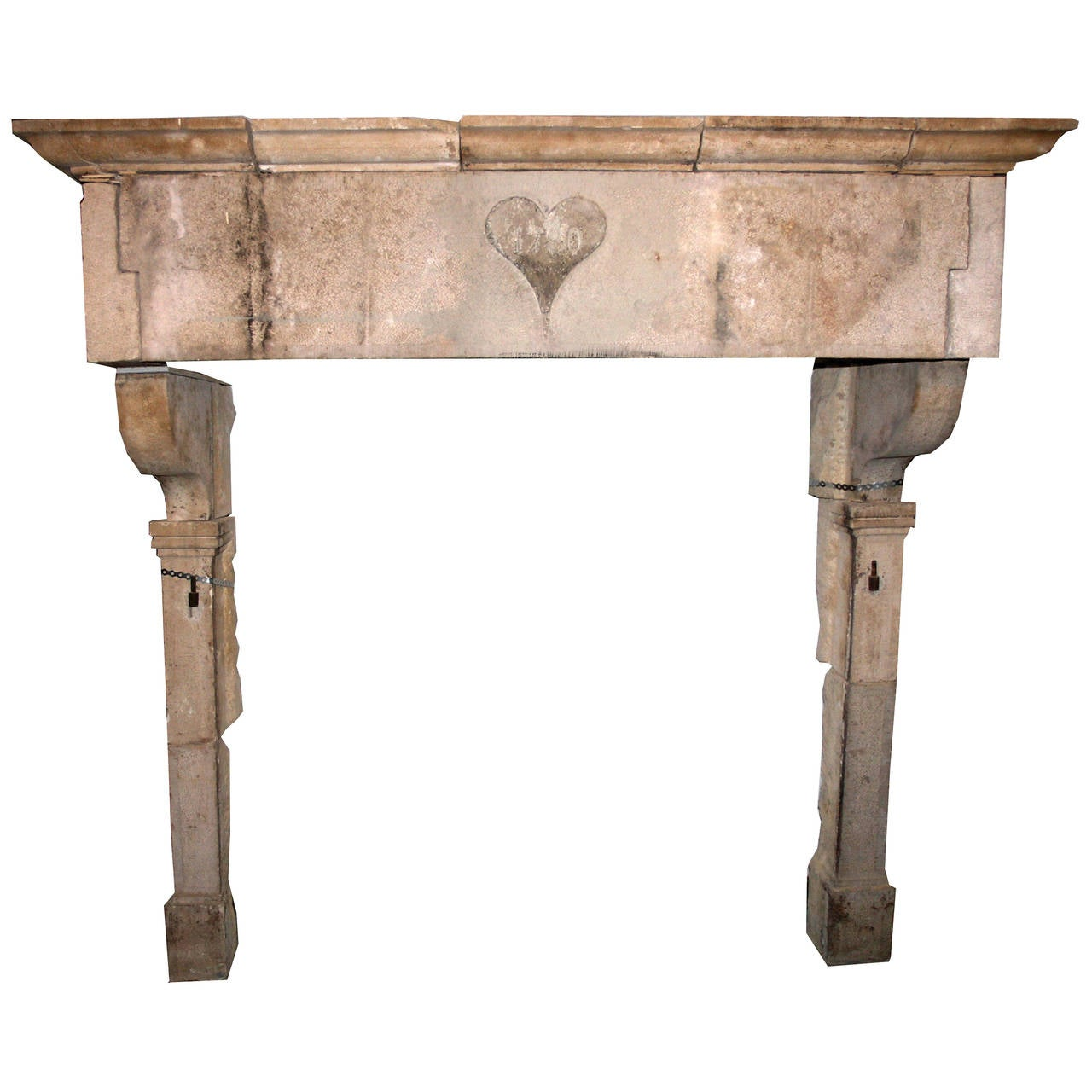 Antique Borgogna 39 S Stone Fireplace Mantel At 1stdibs