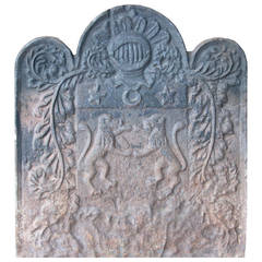 Antique Fireplace Cast Iron Plate