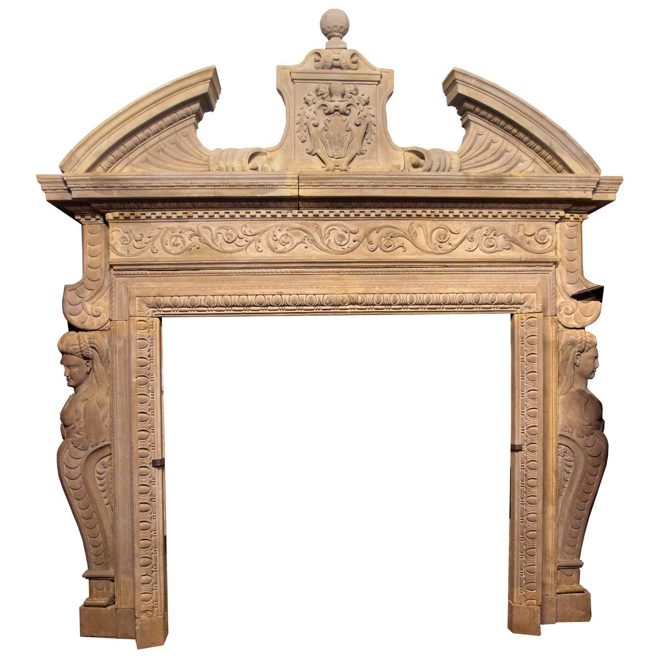 antique fireplace mantel made of pietra di siena at 1stdibs