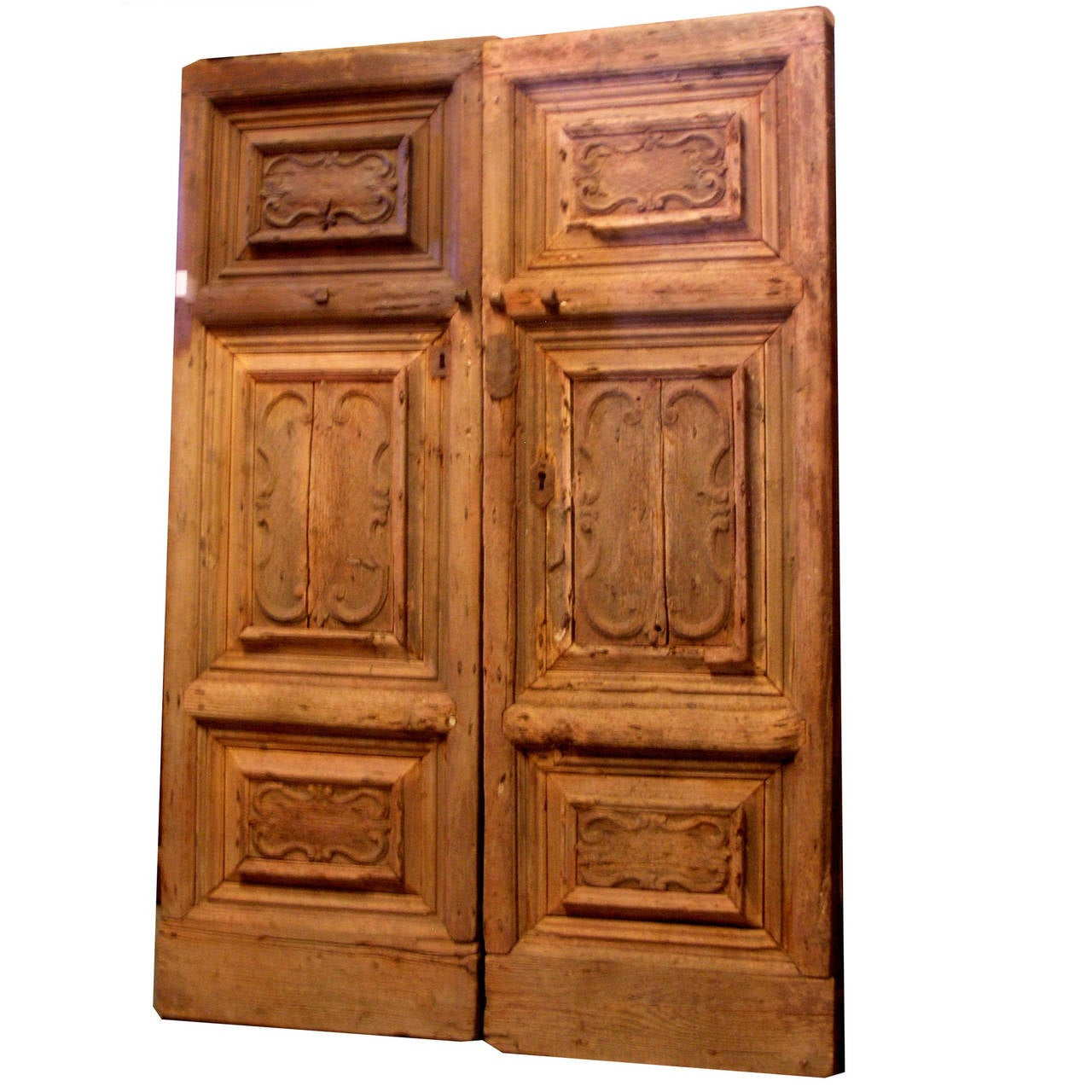 Antique larch carved double door for sale at 1stdibs for Double doors for sale