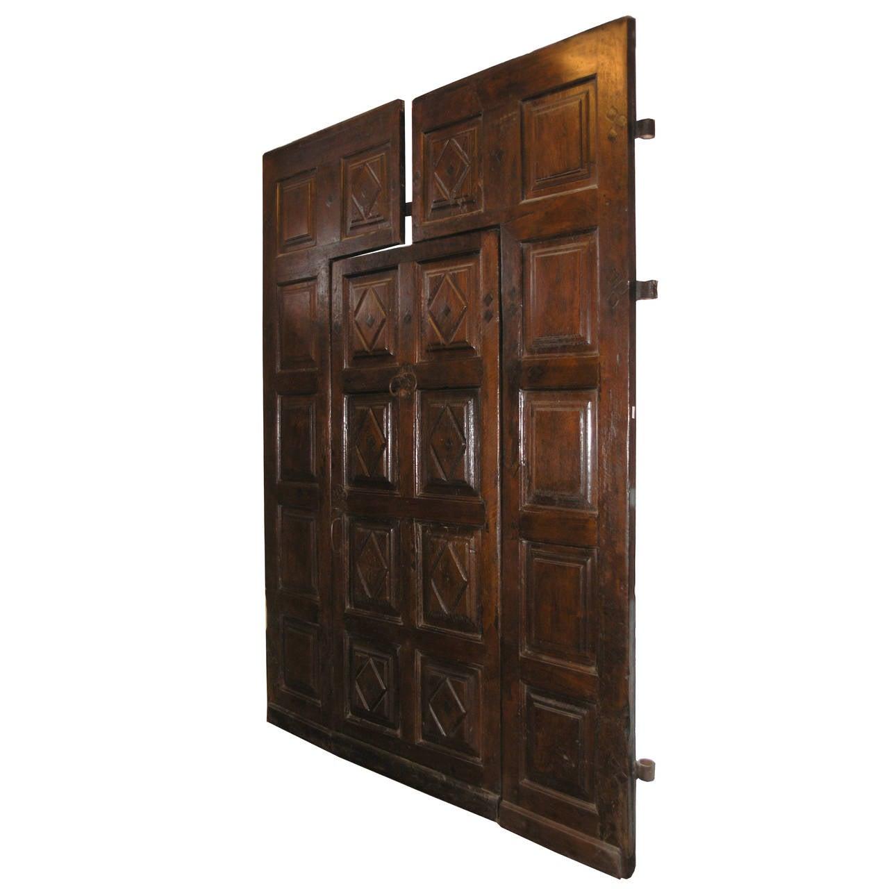1280 #A0662B Antique Walnut Entry Door At 1stdibs save image Vintage Exterior Doors 41071280