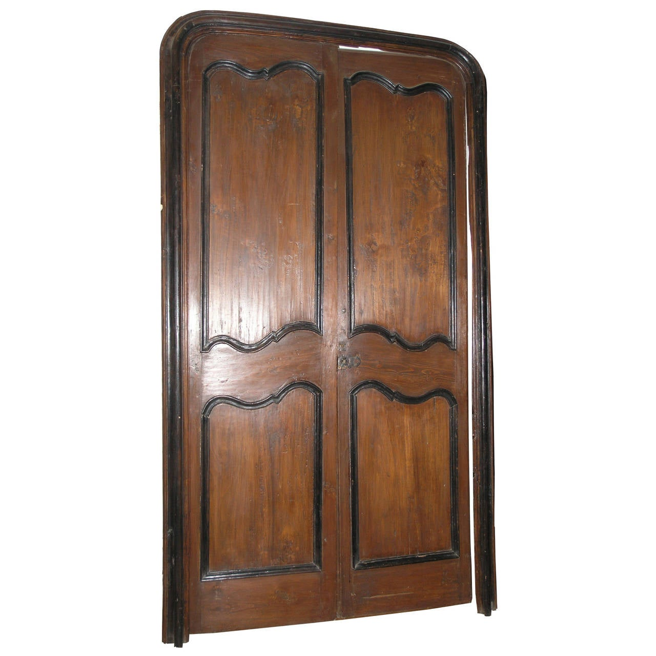 Antique poplar double door for sale at 1stdibs for Double doors for sale