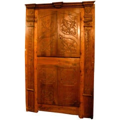 Antique Walnut Wall Cabinet For Sale At 1stdibs
