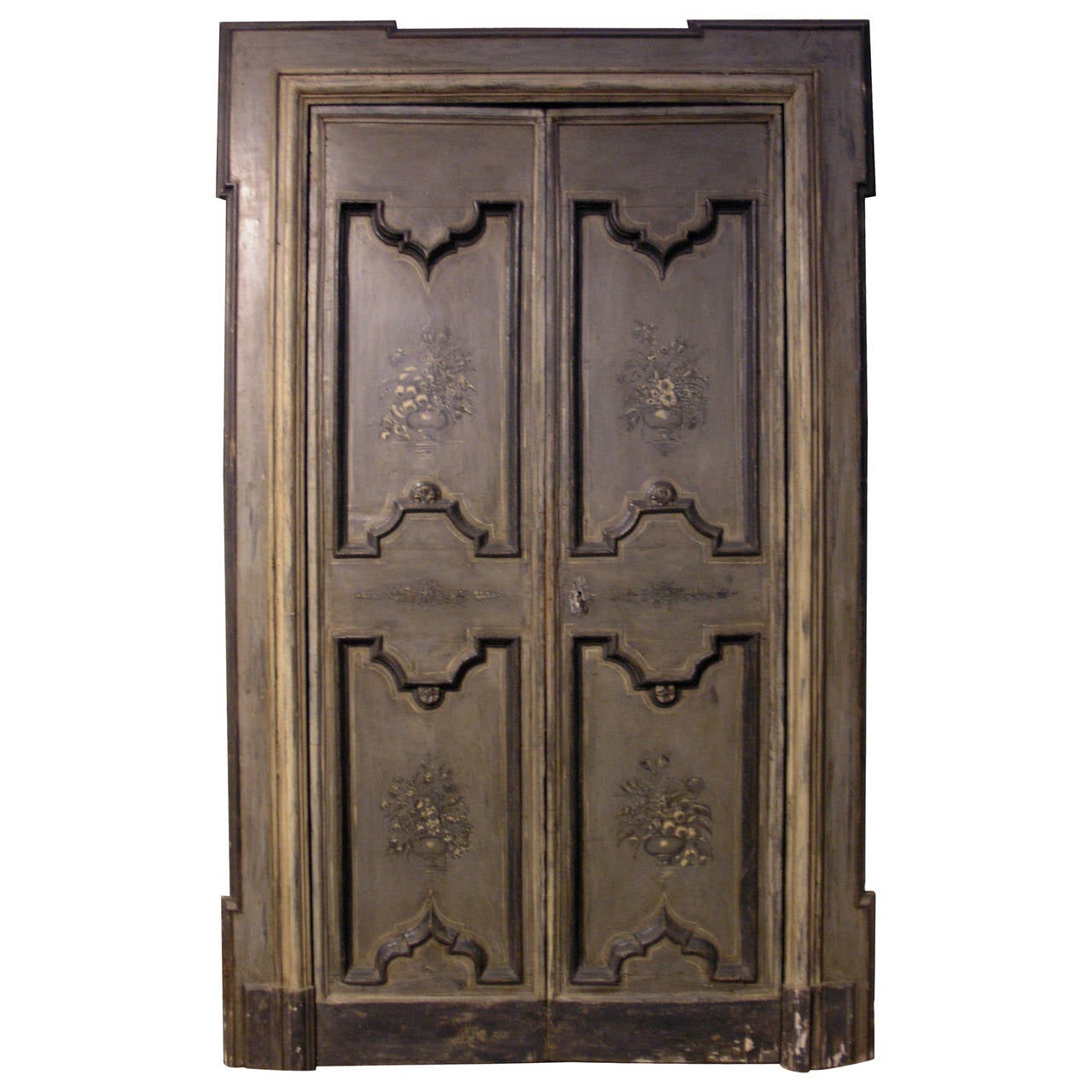 Antique lacquered double door for sale at 1stdibs for Double doors for sale
