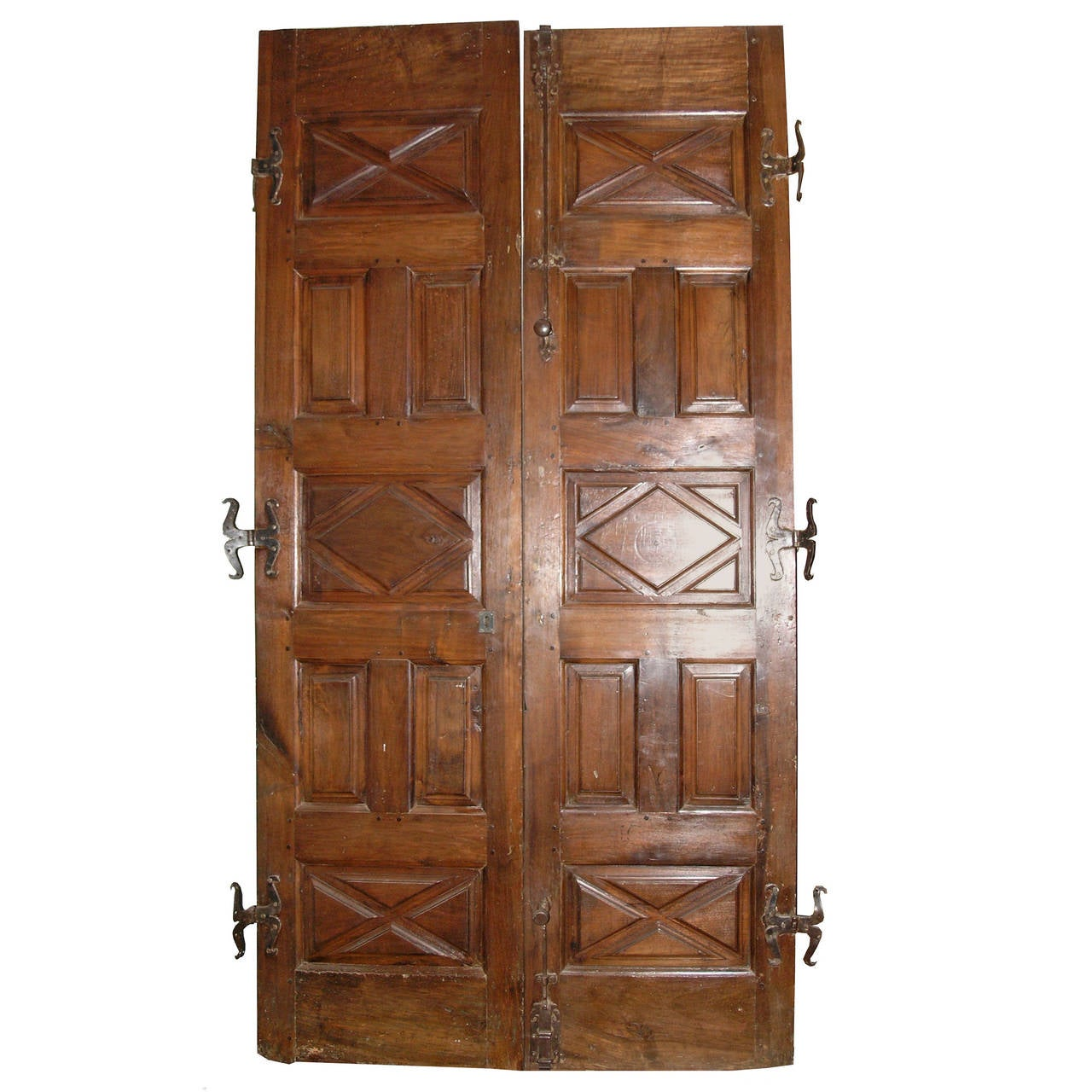 1280 #4A2818 Antique Walnut Double Entry Door At 1stdibs save image Vintage Exterior Doors 41071280