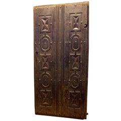 Antique Carved Double Door