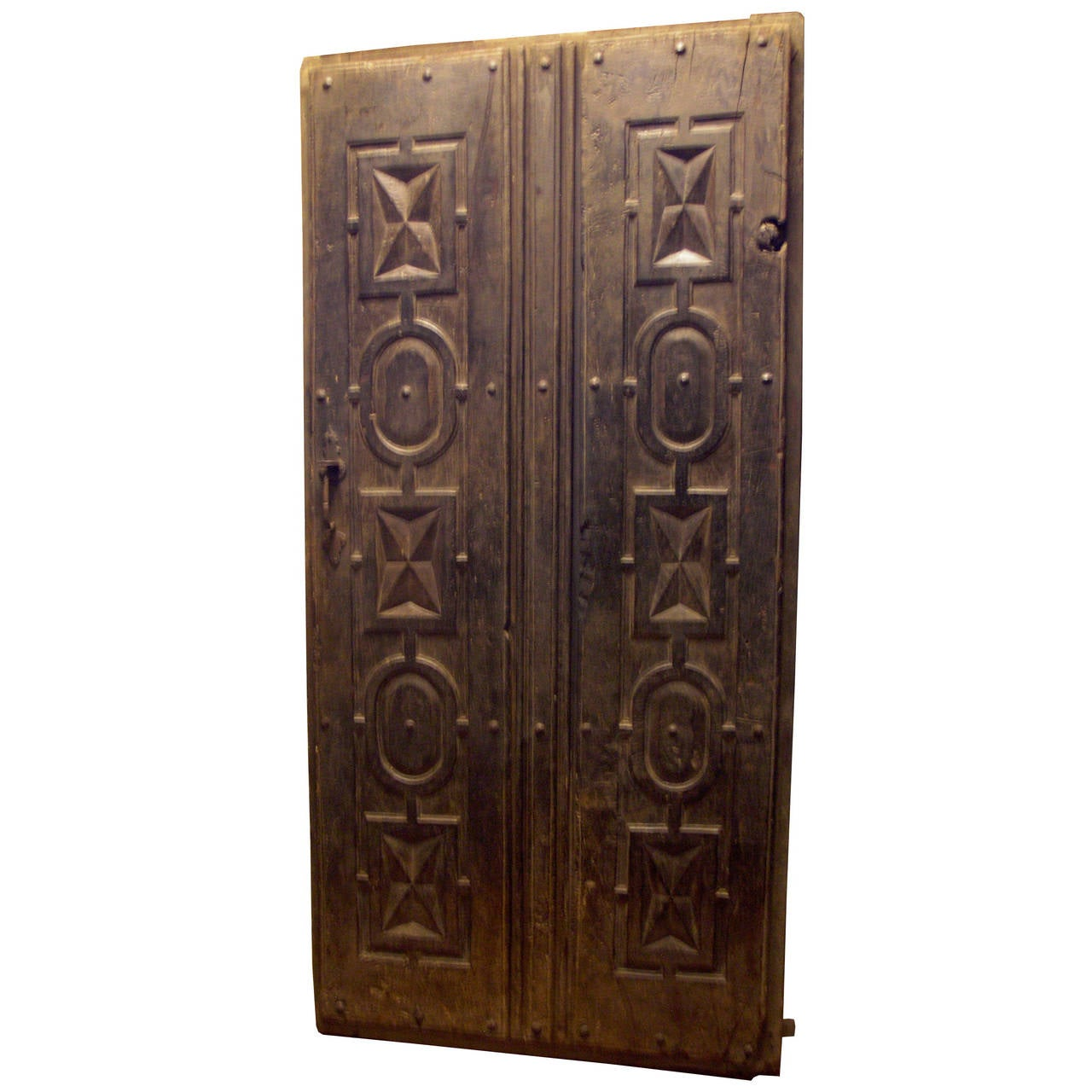 Antique carved double door for sale at 1stdibs for Double doors for sale