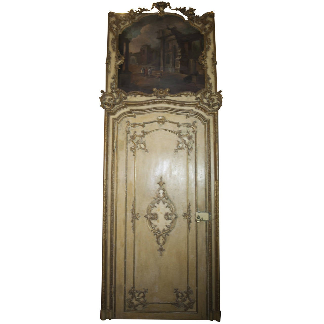 Antique baroque door refined with gold for sale at 1stdibs for Baroque glass door