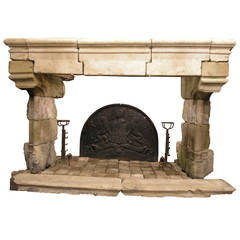 Ancient Fireplace Made of Borgogna's Stone