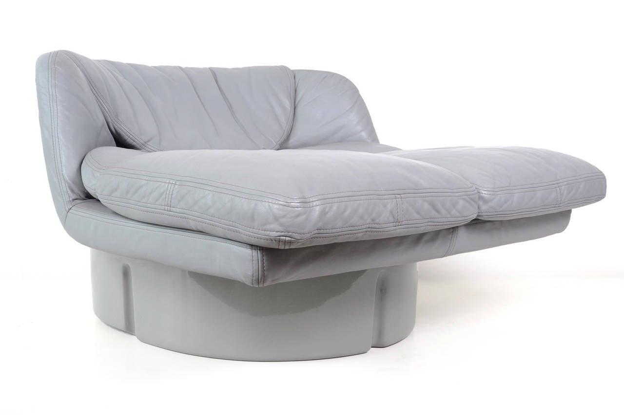 Rare Lounge Chair By Ammannati U0026 Vitelli For Comfort Italy, 1970. Grey  Fiberglass Shell