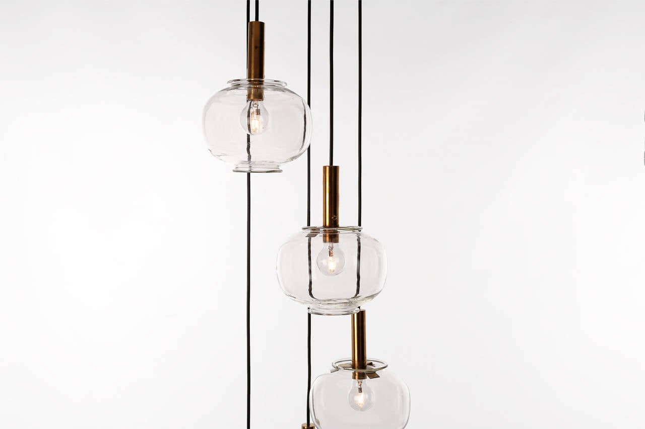 Glass Bulbs Pendant Chandelier At 1stdibs