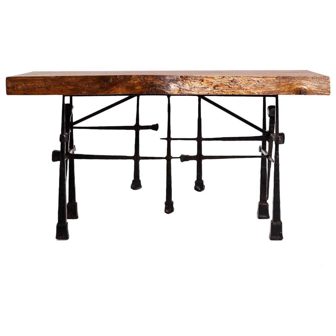 Paul Evans Brutalist side table, 1950s