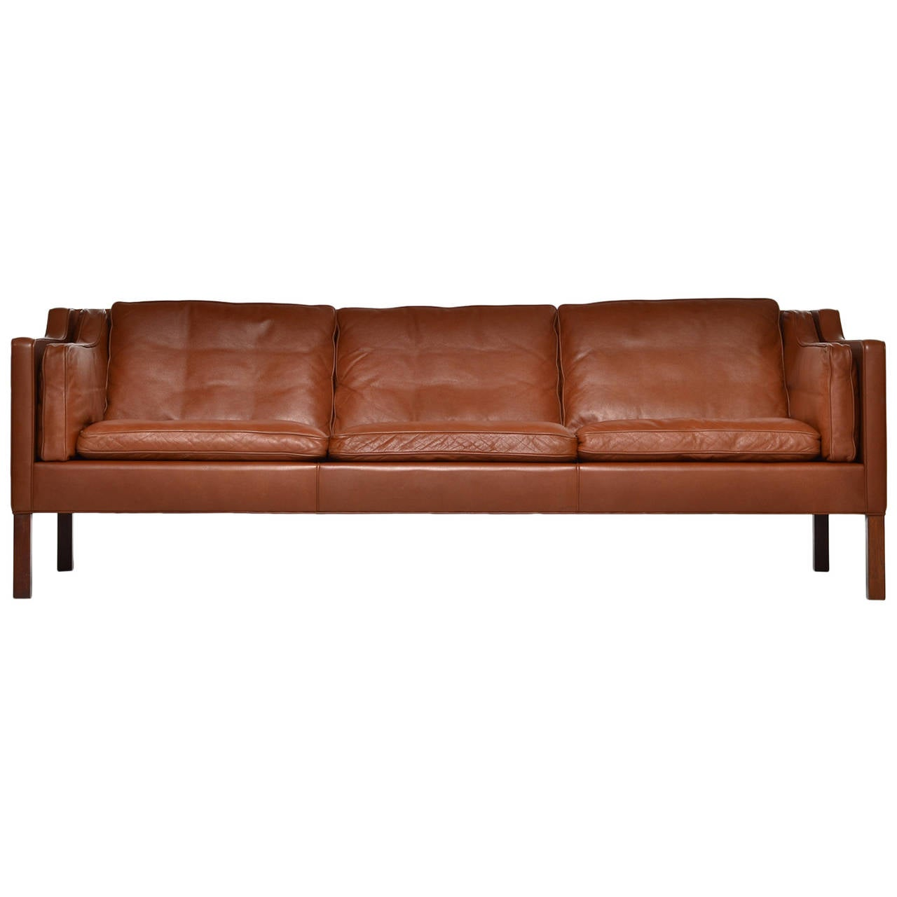 cognac leather sofa model 2213 by b rge mogensen for. Black Bedroom Furniture Sets. Home Design Ideas