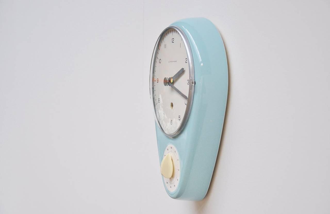 Max Bill Junghans Kitchen Clock 1953 At 1stdibs