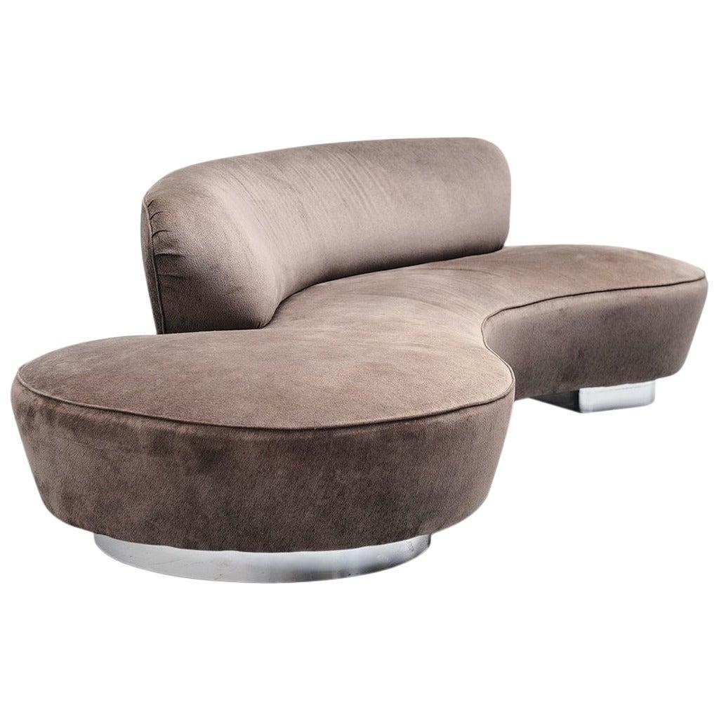 Vladimir Kagan Serpentine Sofa Directional Usa 1975 At