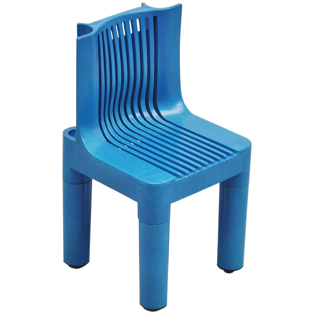 Marco zanuso blue child 39 s chair for kartell 1964 at 1stdibs for Small chair for kid