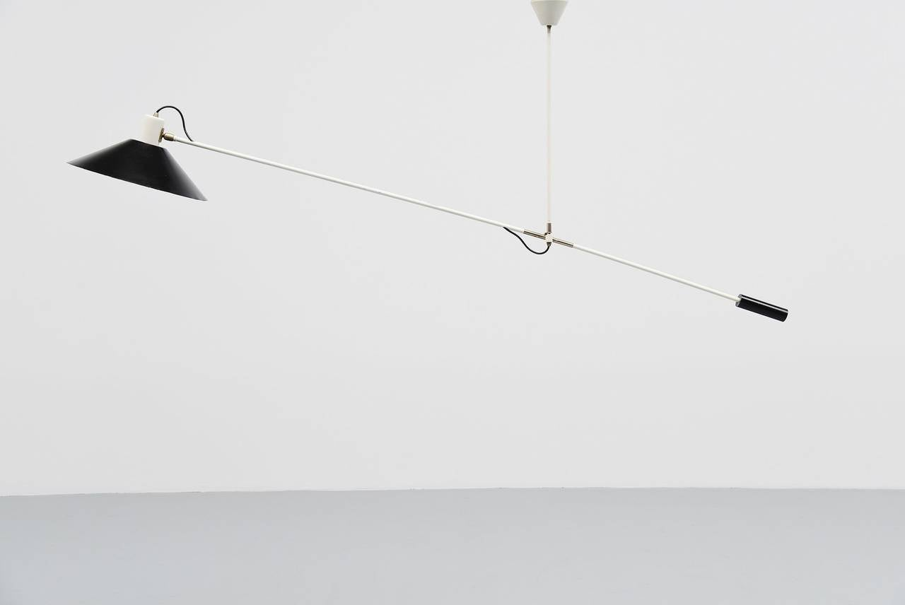 JJM Hoogervorst Anvia Counter Balance Ceiling Lamp, Holland, 1957 ...