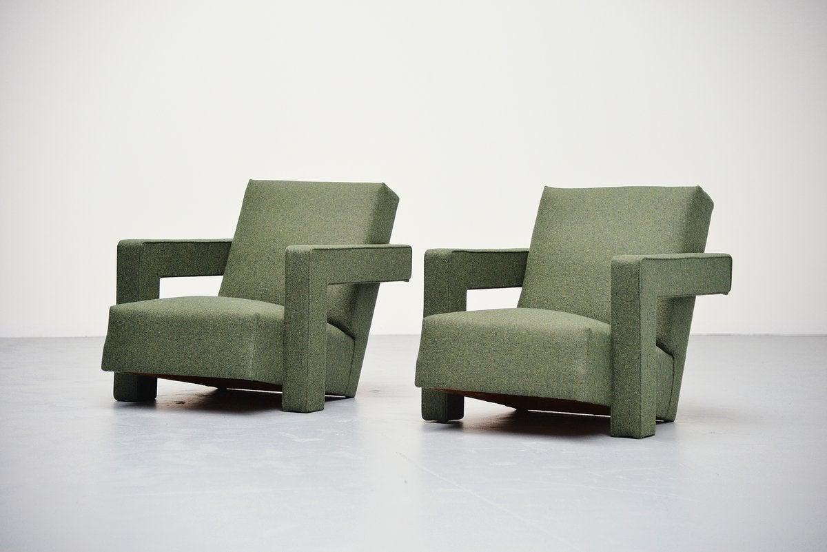 Gerrit rietveld chair for sale - Gerrit Thomas Rietveld Utrecht Chairs Metz Co