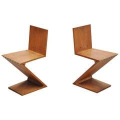 Gerrit Thomas Rietveld Zig Zag Chairs Gerard van de Groenekan, 1950