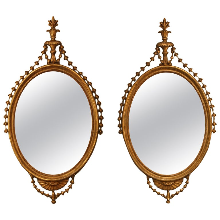 Pair of Period George III Mirrors For Sale
