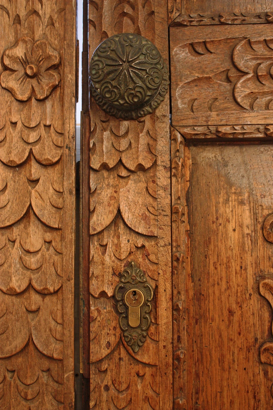 Pair Of Antique Carved Spanish Doors For Sale At 1stdibs