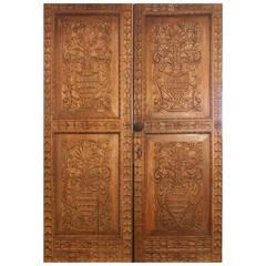 Pair of Antique Carved Spanish Doors