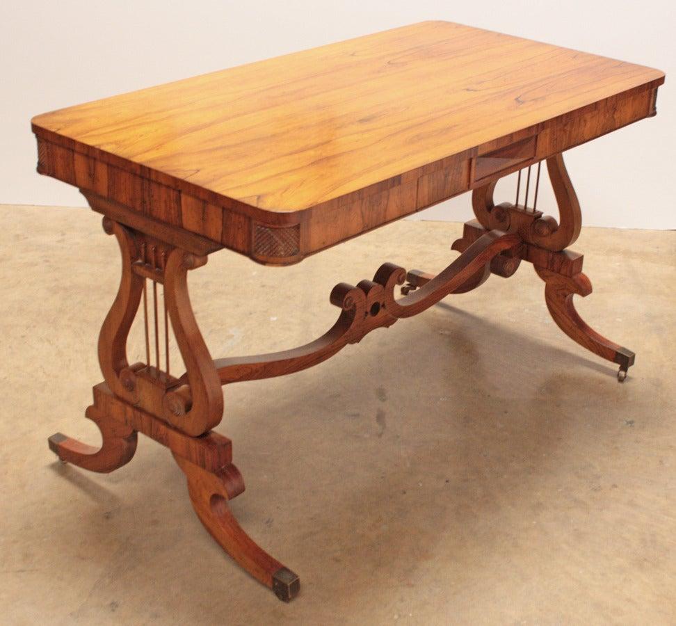 Carved Baker Furniture Regency Style Writing Desk For Sale