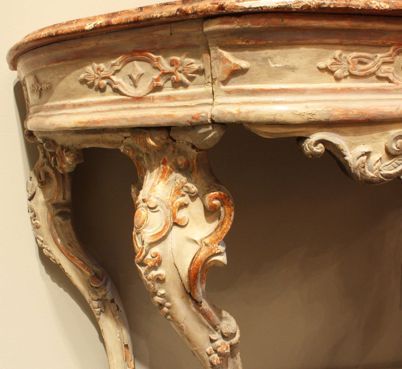 Rococo 18th Century Venetian Painted Console For Sale