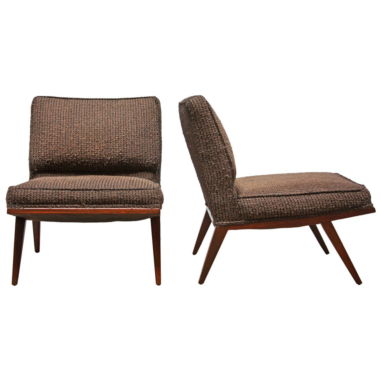 Pair of Lounge or Slipper Chairs Attributed to Paul McCobb