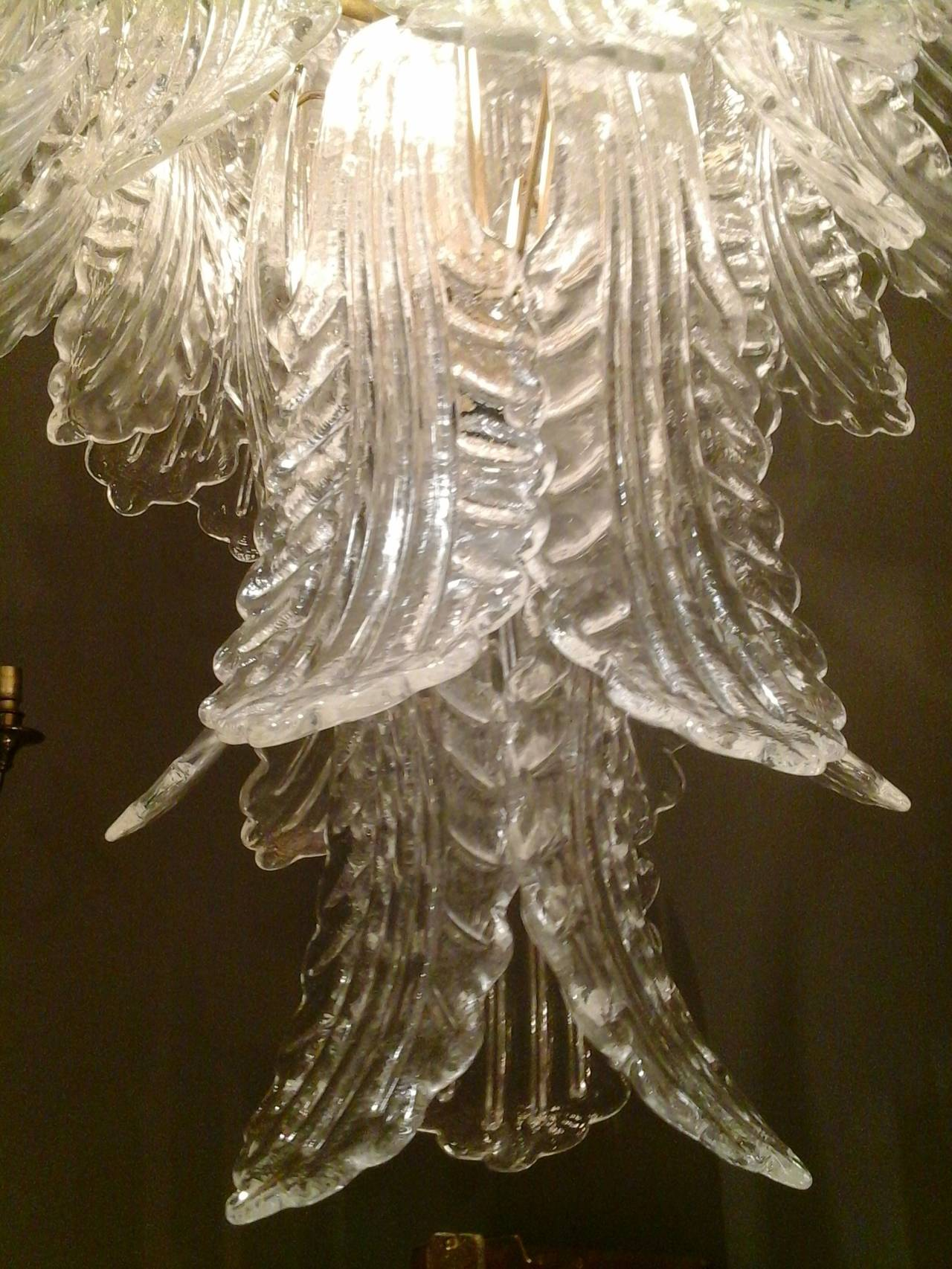 Barovier e toso leaf chandelier at 1stdibs for Barovier e toso